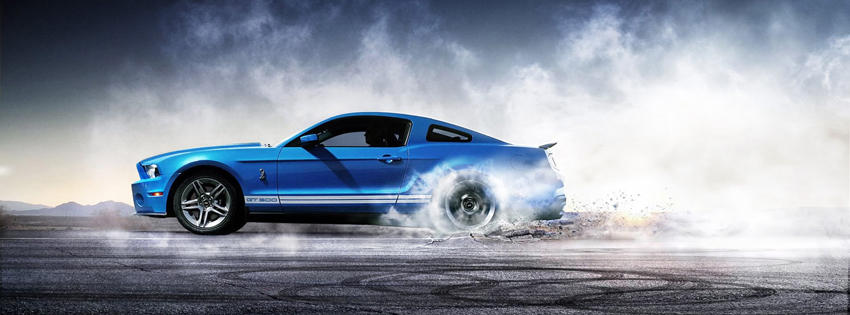 Blue Mustang Facebook Cover for Timeline