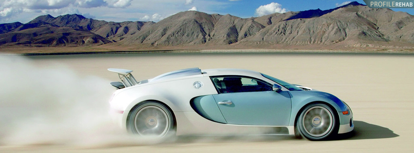 Cool Bugatti Sports Car Facebook Cover