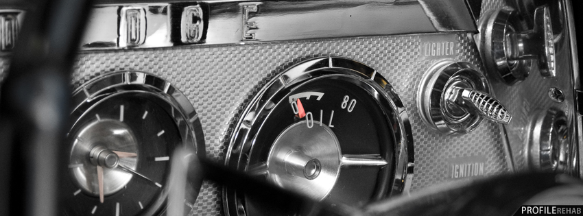 Classic Car Dashboard Facebook Cover