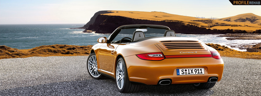 Cool Orange Porsche Facebook Cover
