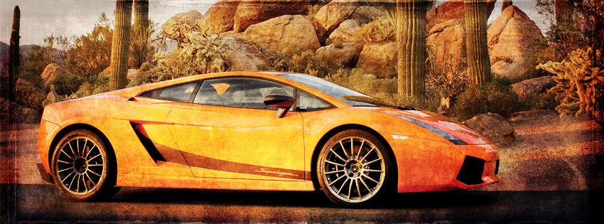 Desert Lamborghini Facebook Cover