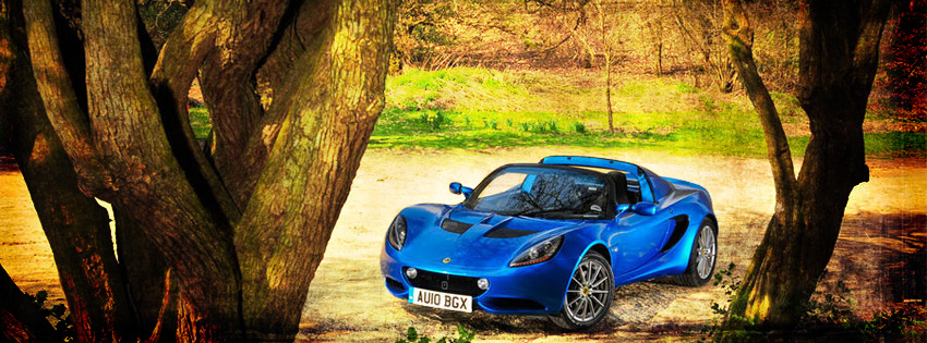 Blue Lotus Elise Car Facebook Cover