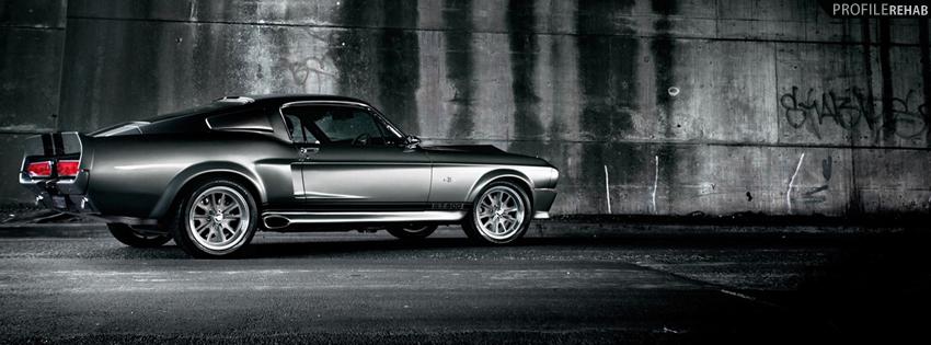 Black Mustang Facebook Cover for Timeline
