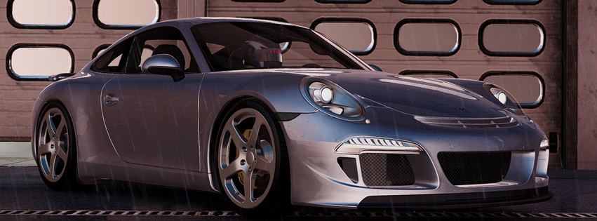 Project Cars Silver Car FB Cover
