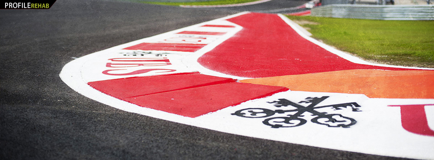 Race Car Track Facebook Cover