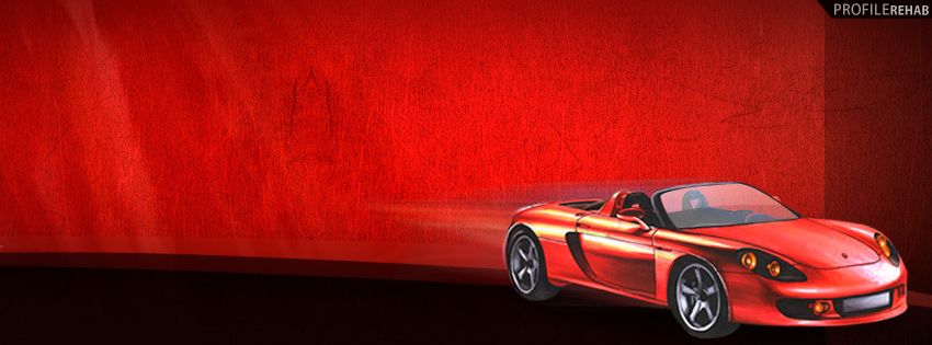 Red Car Facebook Cover for Timeline