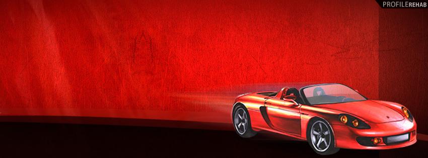 Red Car Facebook Cover for Timeline