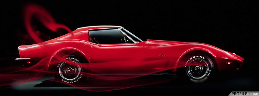 Red Corvette Facebook Cover