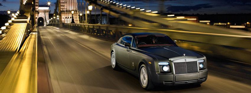 Gold Rolls Royce Car Facebook Cover