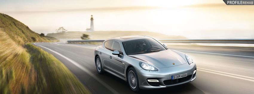 Silver Porsche Facebook Cover