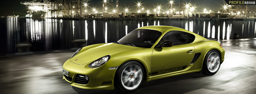 Yellow Car Photo Facebook Cover