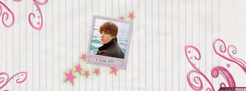 Cute Justin Bieber Facebook Cover