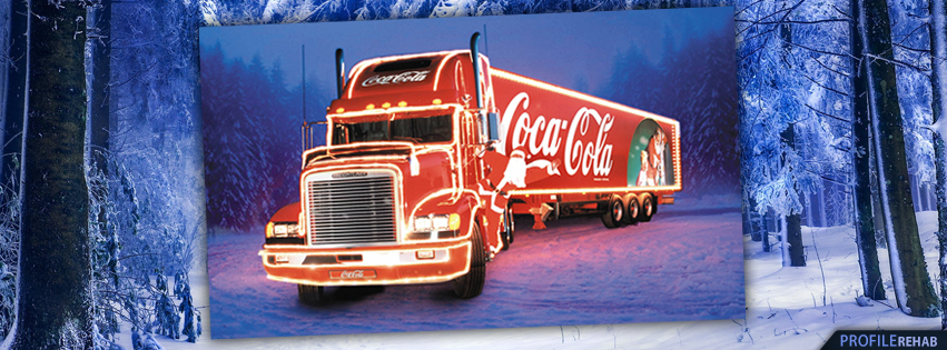 Coke Christmas Truck Facebook Cover