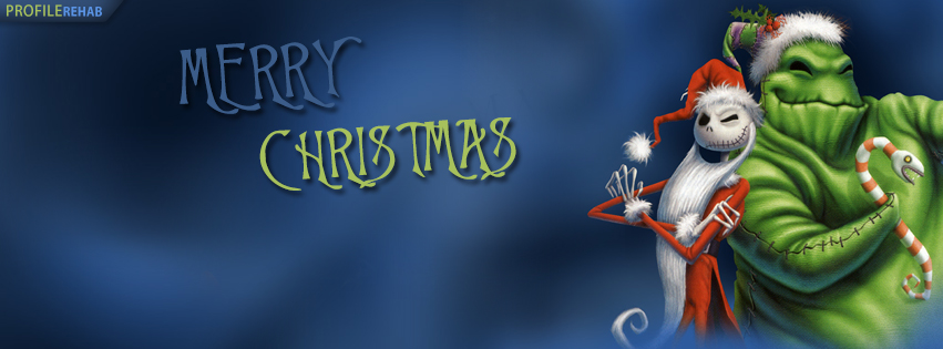 Nightmare Before Christmas Facebook Cover - Free Merry Christmas Pictures Facebook Preview