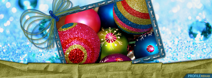 Colorful Ornaments Christmas Facebook Covers - Christmas Ornament Images Free