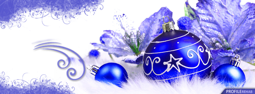 Blue Xmas Ornaments Pictures for Facebook Timeline - Christmas Ornaments Pictures