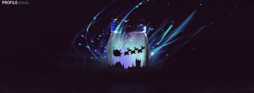 Cool Christmas Pictures - Cool Christmas Photos Free - Blue Wisp Christmas Jar Cover