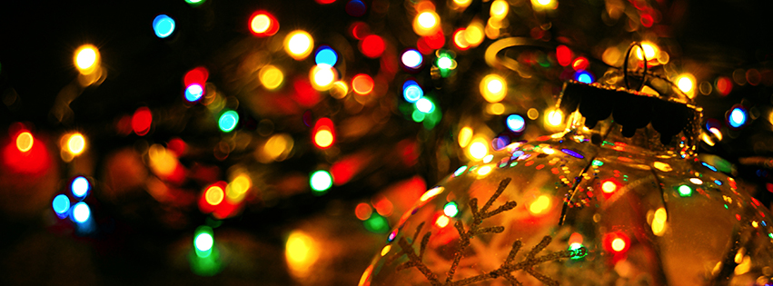 Christmas Lights & Ornaments Facebook Cover - Free Pictures of ...