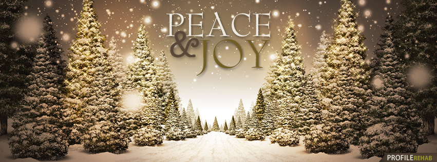 Peace & Joy Christmas Tree Facebook Cover - Beautiful Christmas Trees Images