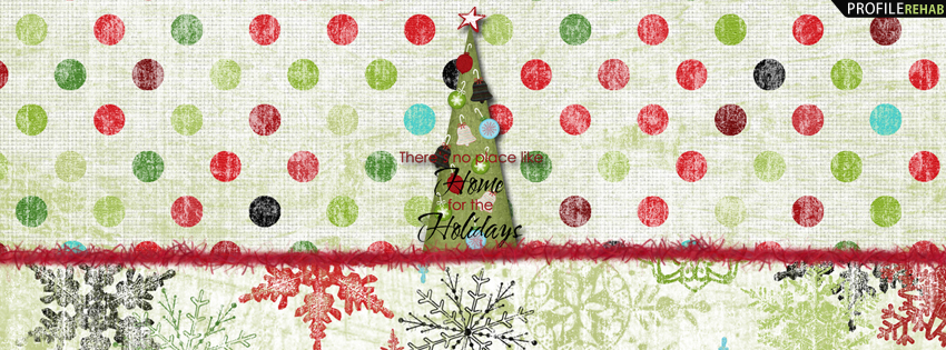 Christmas Quotes Pictures - Christmas Polkadot Facebook Cover for Timeline