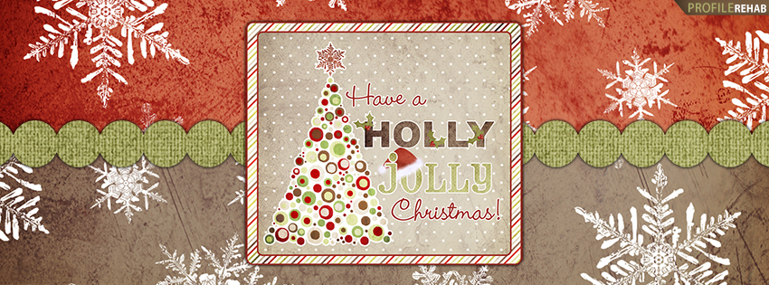 Holly Jolly Christmas Facebook Cover - Christmas Greetings - Christmas Wishes Quote Image