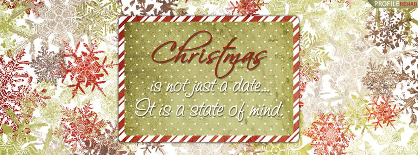 Christmas Pictures and Quotes - Christmas Snowflakes Quote Facebook Cover - X-mas Pic