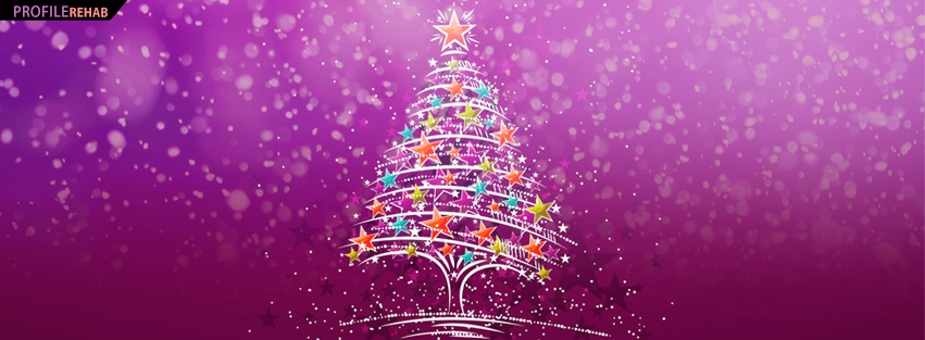 Christmas tree facebook cover pretty christmas tree for Holiday themed facebook cover photos