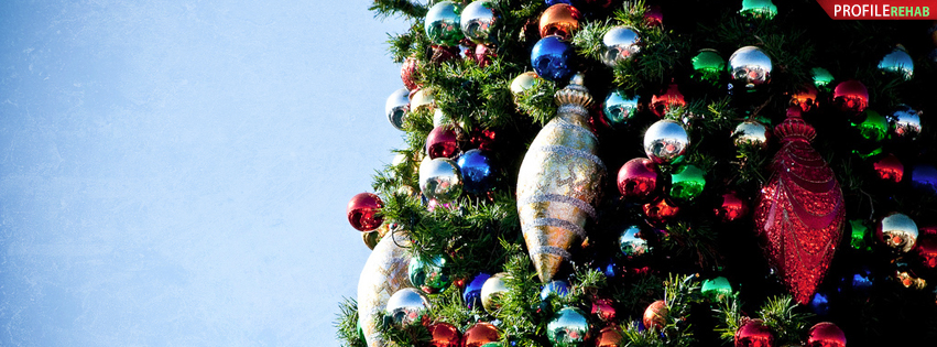 Christmas Tree Ornaments Facebook Cover - Images of Decorated Christmas Trees - X-mas Images