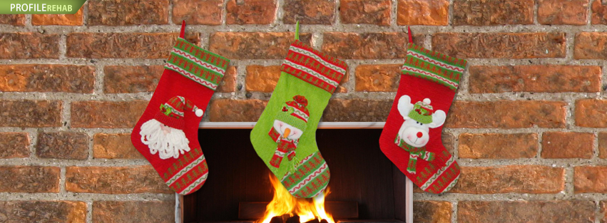 Christmas Stocking Fireplace Cover