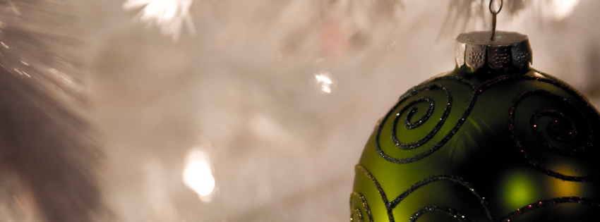 Christmas Ornament Picture - Green Christmas Facebook Cover - Pictures of Ornaments