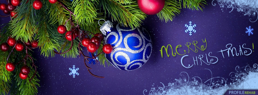Purple Merry Christmas Facebook Cover - Merry Christmas Pic - Merry Christmas Image