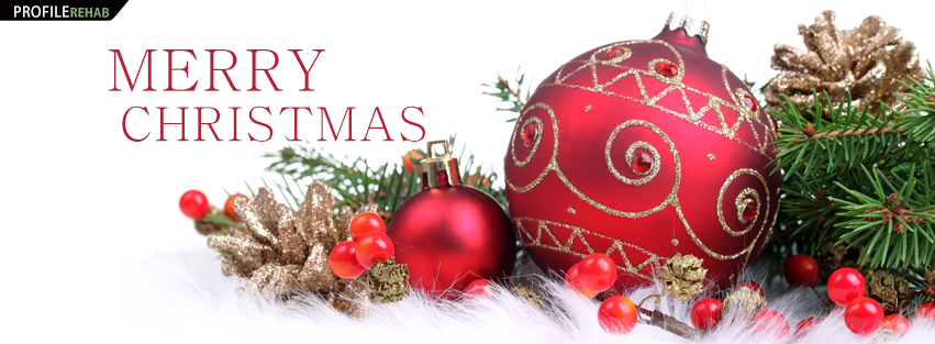 Merry Christmas Ornaments FB Cover