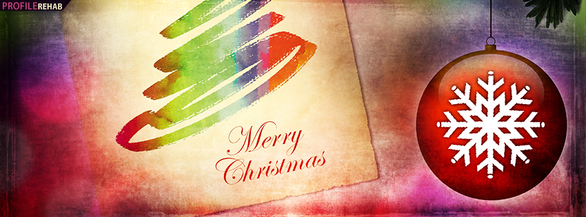 Merry Christmas Ornament Facebook Cover - Merry Christmas Quotes Wishes - Xmas Photo