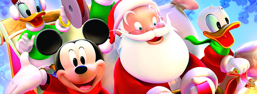 Mickey Mouse & Santa Facebook Timeline