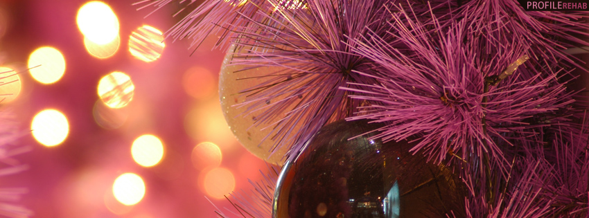 Pink Christmas Ornaments Facebook Cover - Christmas Ornament Photo - Cute Ornament Images