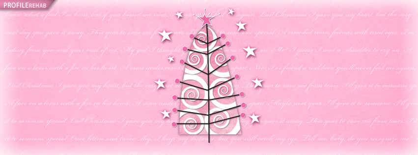 Pink Christmas Tree Facebook Cover - Pink Christmas Trees Pictures Preview