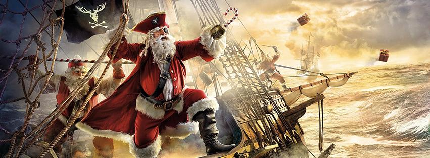 Pirate Santa Facebook Timeline Cover