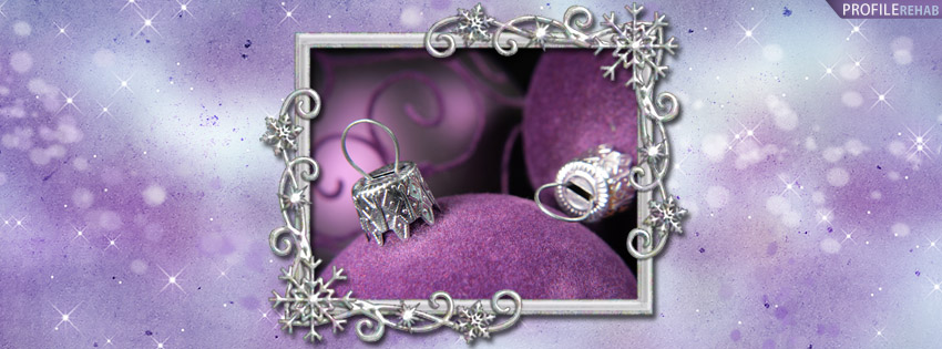 Purple Christmas Ornaments Facebook Cover - Images of Christmas Ornaments