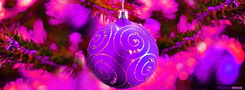 Purple christmas ornament pictures christmas ornaments for Holiday themed facebook cover photos