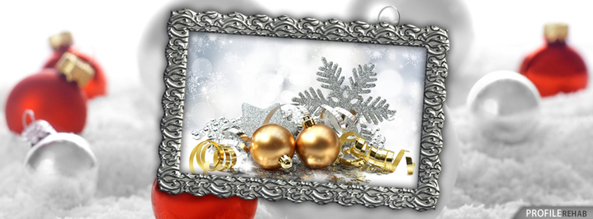 Gold & Silver Christmas Facebook Covers - Facebook Christmas Pictures for Facebook Cover Preview