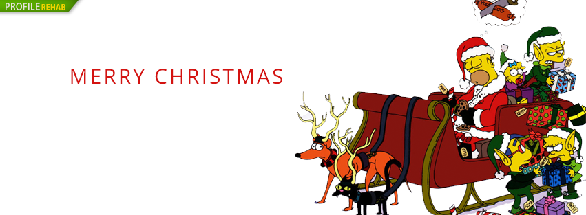 Christmas Simpsons Facebook Cover