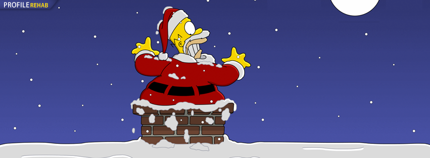 Simpsons Xmas Facebook Timeline Cover