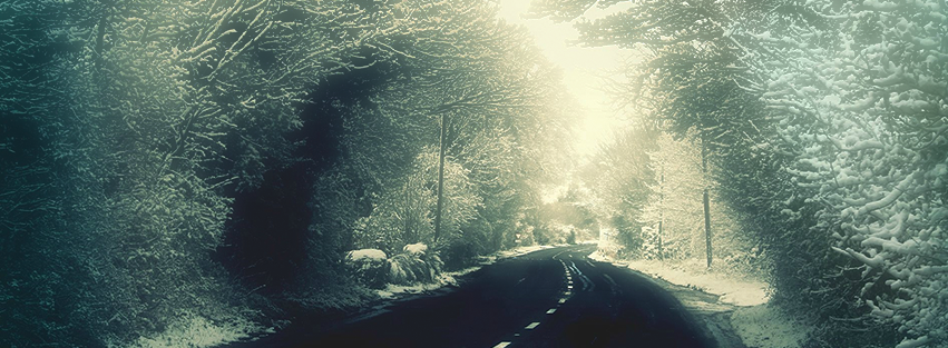 Winter Road Facebook Cover