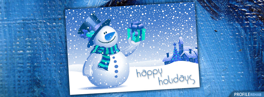 Happy Holidays Facebook Cover - Happy Holidays Images Free - Cute Snowman Picture