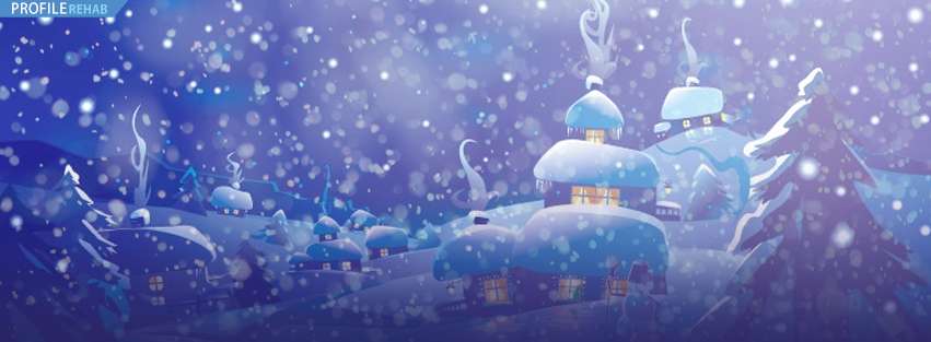 Snow Town Christmas FB Cover