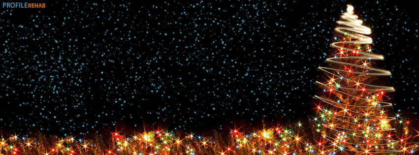 Christmas Tree Lights Facebook Cover