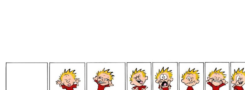 Calvin and Hobbs Comic Facebook Cover