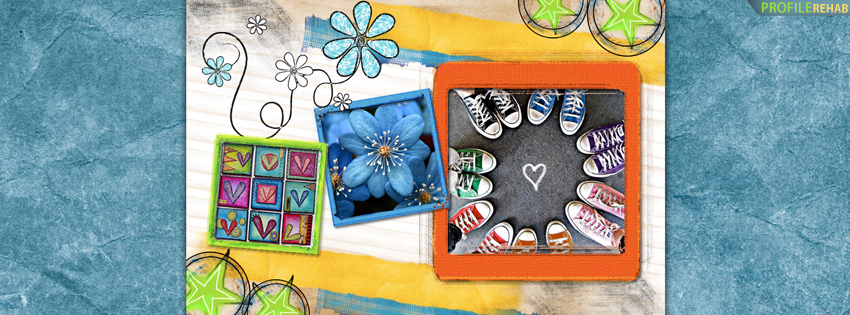 Hearts, Converse and Flowers Facebook Cover for Timeline
