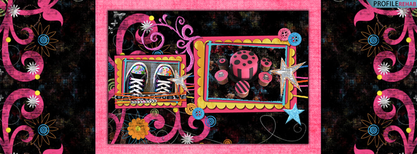 Black & Hot Pink Converse Facebook Cover for Timeline