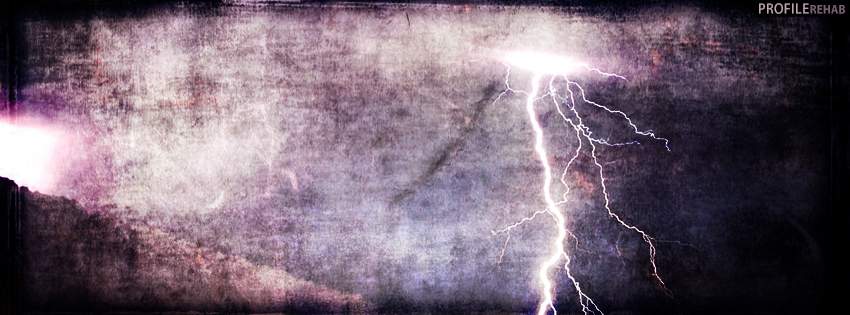 Creepy Lightning Facebook Cover